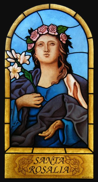 Stained Glass Window Saint Rosalia