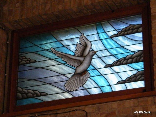 vetrata Artistica Sacra Santa Scolastica