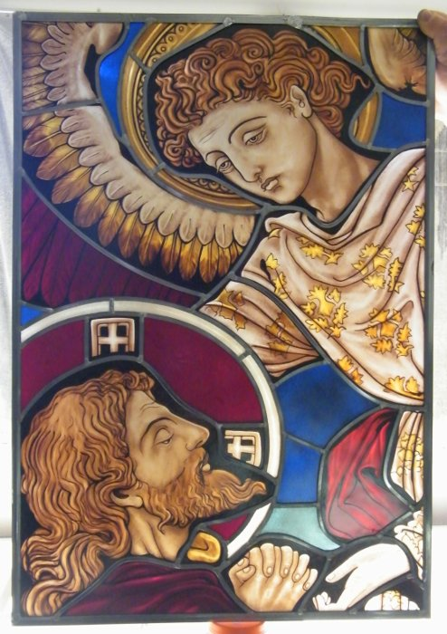 Stained Glass Angel and Saint