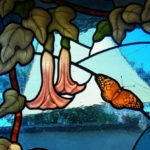 Leaded Stained Glass with Butterflies