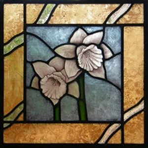 Stained Glass Narcissus Flowers