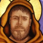 Stained glass window featuring Saint Francis