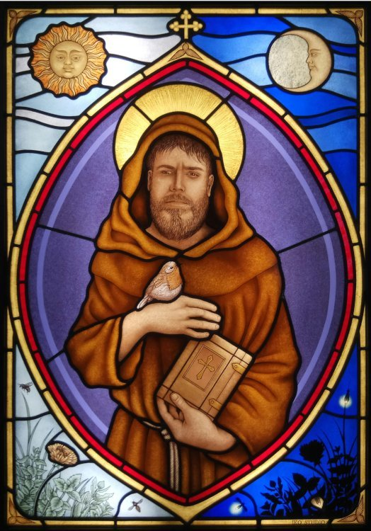 Stained Glass Window Saint Francis