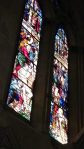 Mullioned stained glass in Arezzo's cathedral