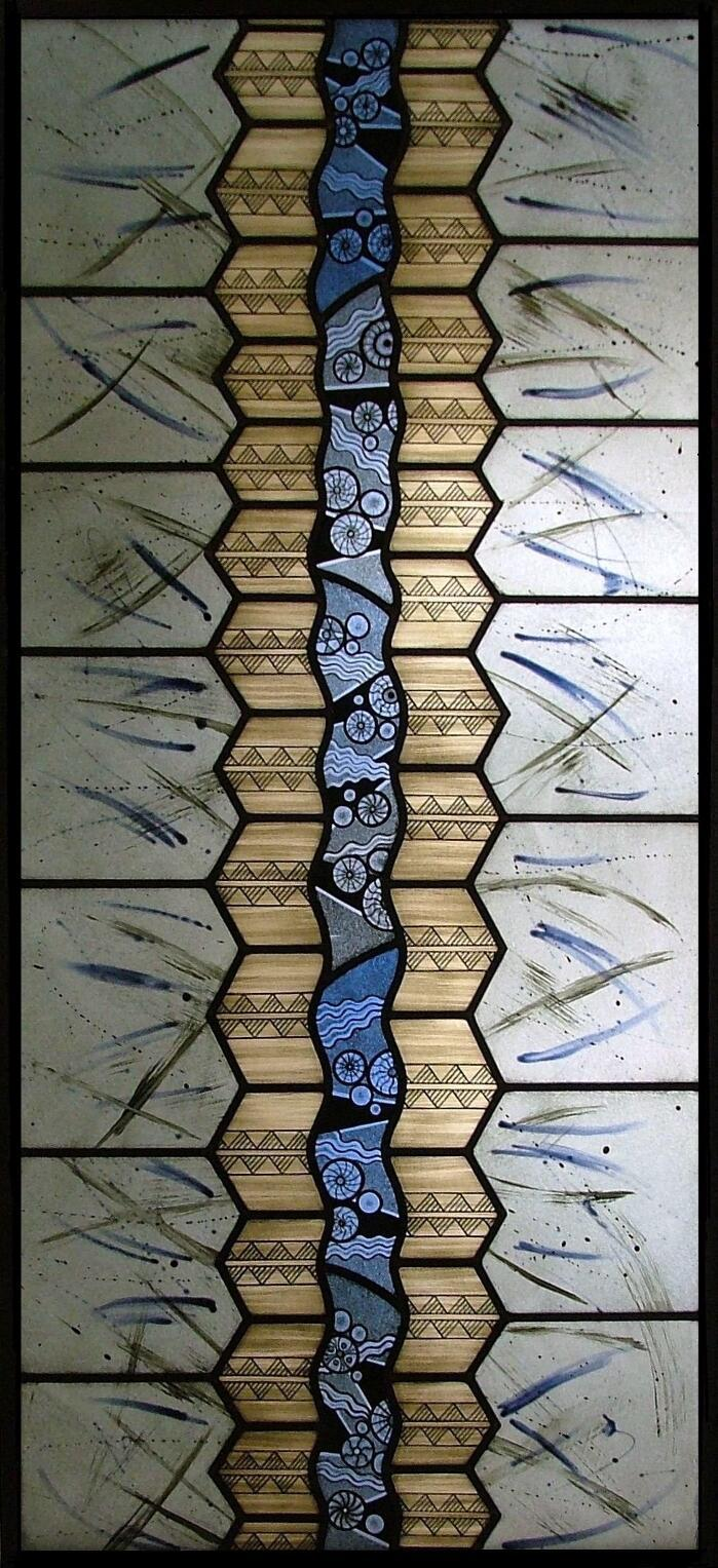 Geometric Contemporary Stained Glass