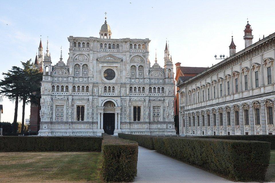 Certosa di Pavia Rose Facade
