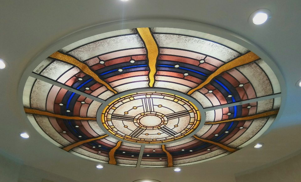 Circular Modern Stained Glass