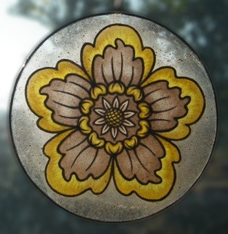 suncatcher with painted glass