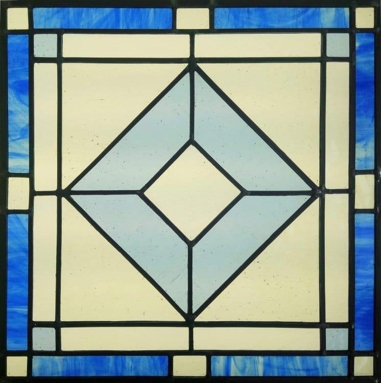 Corso Vetrate Piombo Geometrica Azzurra