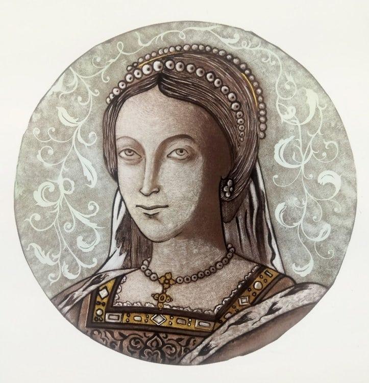Pittura su Vetro Dama Medievale