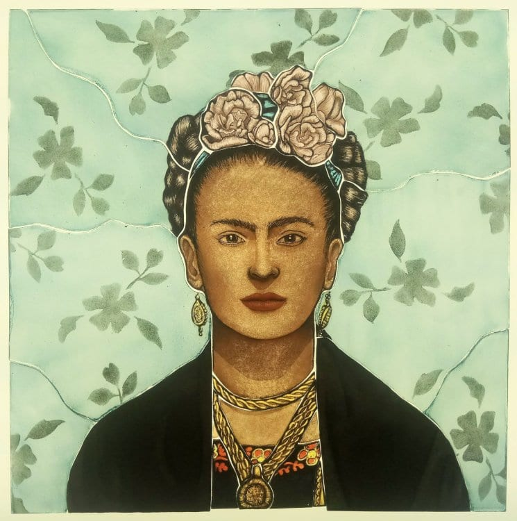 Stained Glass Frida Kalo