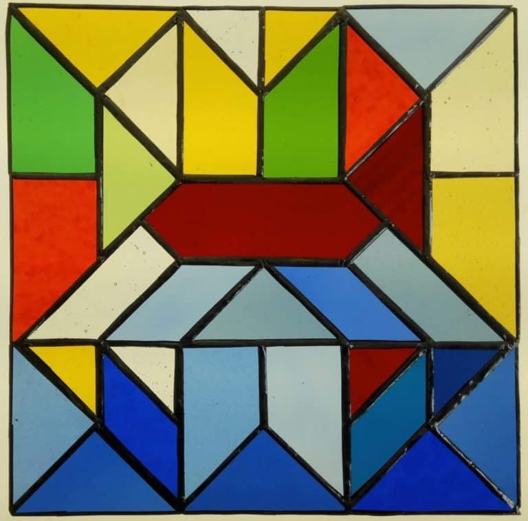 Vetrata Tiffany Geometrica