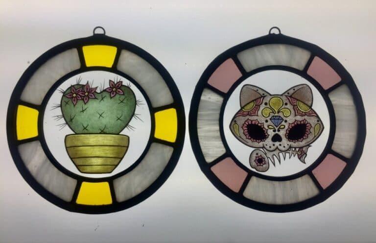 Suncatcher Gatto Cactus