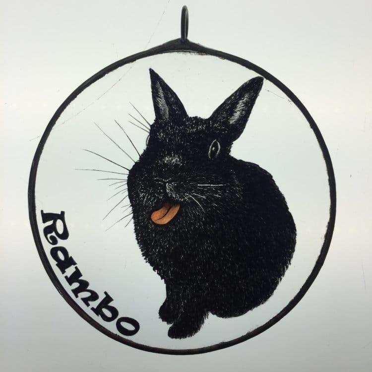 Suncatcher Ritratto Coniglio