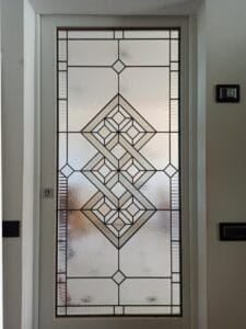Geometric design door