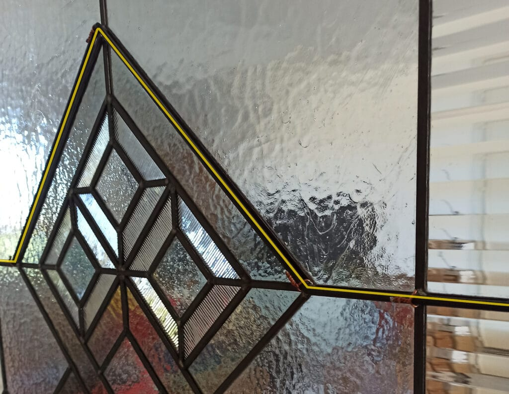 Iron bars for stained glass