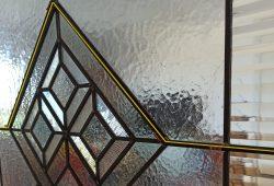 Porta Geometrica Barre Vetrata