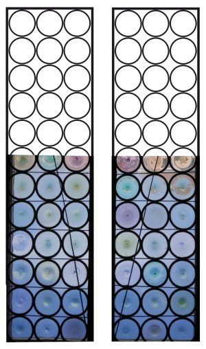 Aligned Roundel Stained glass window